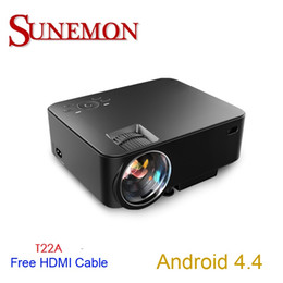 Wholesale video projects - Wholesale-Free shipping original T22 mini WIFI Projector Full HD 1080P Home theater projecting camera LED video home Multimedia T22
