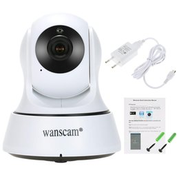 Wholesale Wanscam Wireless Ip Cameras - Wanscam HD 720P Wireless WiFi Pan Tilt Network IP Cloud Camera Infrared Night View Motion Detection for CCTV Surveillance Security F16121530