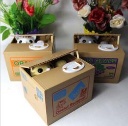 Wholesale Itazura Cat Steal - Retail Itazura Cute Kitty Cat Stealing Coins Japanese Piggy Bank Saving Bank Saving Pot Money Box Free Shipping