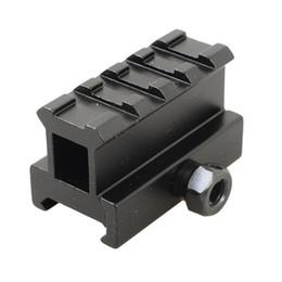 Wholesale Riser For Picatinny Rail - Tactical Scope Riser Base Mount 20mm Adapter Rail Bracket For Picatinny Weaver Rail Airsoft Hunting Gun Flashlight Mount