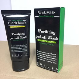 Wholesale seaweed whitening cream - Black Mask Blackhead Remover SHILLS Deep Care Cleansing Peel Off Black Mud Mask Purifying Peel Acne Black Heads Remover Pore Facial Mask