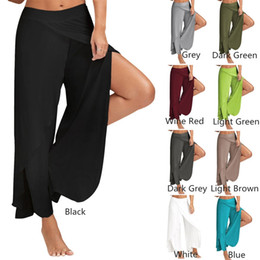 Cheap yoga pants size xs - 2017 New Arrival Women Sexy Pants Yoga Pants Wide-Legged Loose Casual Women Trousers Exercise Fitness Wear 9 Color Plus Size M-5XL