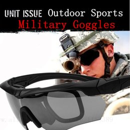 Wholesale Ballistic Glasses Military - Sports Sun glasses Military Goggles Ballistic 3 Lens Bullet-proof Army Sunglasses with Original Case Tactical Eyeshield