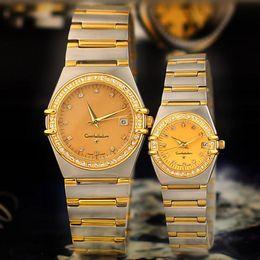 Wholesale Designer Gems - Fashion Women Men Watches Luxury Brand Designer Quartz Wristwatches Diamond Dial Stainless Steel Band Watch for Mens Ladies Water Resistant