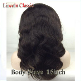 Wholesale Tangle Free Full Lace Wigs - AmazingClassicHair Glueless Full Lace Human Hair Wigs With Baby Hair 130% Peruvian Lace Front Wigs Body Wave Bleached Knots Tangle FREE