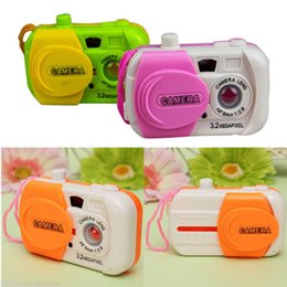 Wholesale wholesale baby toy camera - Wholesale- Color Ranom Camera Toy Projection Simulation Kids Digital Camera Toy Take Photo Children Educational Plastic Gift For Baby