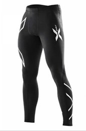 Wholesale White Sport Pants Women - Wholesale- HOT men& women running compression pants breathable elasticity tight pants outdoor marathon sports trousers quick drying fitnes