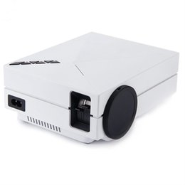 Wholesale av plastic - Wholesale-2016 New Arrival Plastic GM60 Portable LED Projectors Mini 800 x 480 Native Resolution White For Home Cinema Theater HDMI AV US