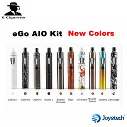 Wholesale Top Ego Kit - Authentic Joyetech eGo AIO Starter Kit New Colors With Top Filling 2.0ml Tank 1500mah Battery Ecigarette Fit Cubis BF SS316 0.6ohm