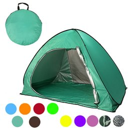 Wholesale fedex open - Graduation Travel Summer Camp Beach Lawn Tents Quick Automatic Opening Tent Outdoors Gear UV Protection SPF 50+ Tent 2-3 People DHL Fedex