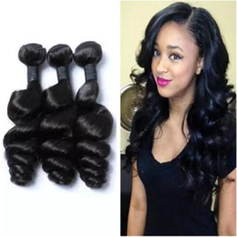 Wholesale Malaysian Loose Curl Hair - Funmi Hair Cheap Indian loose wave Hair Unprocessed Malaysian Bundles loose curl Hair Bundles 3Pcs lot