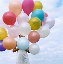 Wholesale Big Advertising - 1.2g Balloons Helium Inflat Latex Balloons Birthday Wedding Party Decor Round Big Giant Balloon Decoration Supplies C161Q