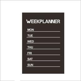 Wholesale Planner Stickers - Hot sale New Design Week Planner Blackboard Removable Vinyl Wall Sticker Chalkboard Decal Nursey free shipping