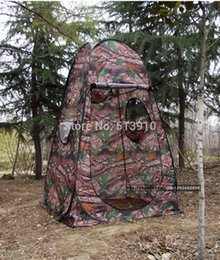 Wholesale Private Single - Wholesale- Private Shower Moving Toilet Automatic Pop Up Camouflage Photography Watching Bird Hunting Bath Fishing Outdoor Camping Tent
