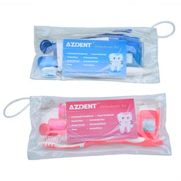 Wholesale Dental Kits Wholesale - care kit 5Bags Tooth Brush Mouth Mirror Interdental Brush Dental Floss Oral Clean Tools Orthodontic Oral Care Kit Teeth Whitening Suit