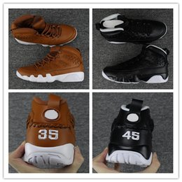 Wholesale Quality Gloves Leather - 2017 Air Retro 9 Basketball Shoes PINNACLE PACK BASEBALL GLOVE BLACK Brown 9s Discount Men Basketball Sneaker Boots High Quality