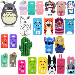 Wholesale Minions For Sale - 3D Cute Cartoon Dog Minions Sulley stitch Unicorn Minnie Rabbit Cover Soft Silicone Case For Samsung Galaxy A3 2017 Cellphone Cases Hot Sale