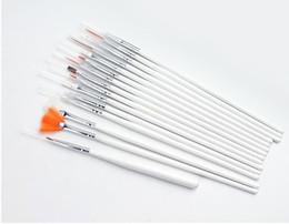 Wholesale Nail Art Brush Set Dhl - 15PCS Nail Art Polish Painting Brush Cosmetic Nail Art DIY Draw Dotting Pen Tips Set Tools Pro Nail Art Liner Design Kit DHL