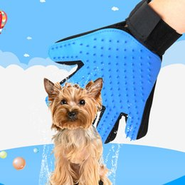 Wholesale Wholesale Dog Eco - 23*16Cm Pets Dogs Silicon Remover Hair Product Supplies Pets Message Eco-Friendly Gentle Use Comfort Touch Five Fingers Glove Shape