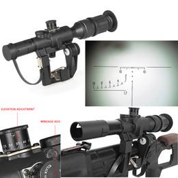 Wholesale illuminated riflescopes - Air Rifle Gun SVD Dragunov 4x26 Red Illuminated Scope for Hunting Softair Rifle Scope for AK pistola metal riflescopes