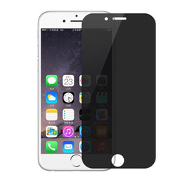 Wholesale Iphone Front Glass China - China Wholesale Privacy Tempered Glass Screen Protector for iPhone7 6s Premium glass 9H Anti-Spy Peeping Without Retail Packaging