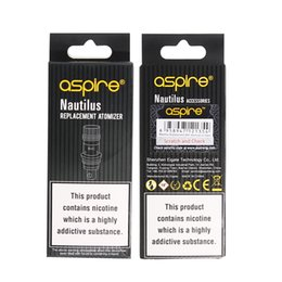 Aspire nautilus bvc bobinas online-100% auténtico Aspire Nautilus Coil 0.7ohm 1.6ohm 1.8ohm nautilus bvc bobinas para aspirar nautilus 2 tanque