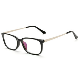 Wholesale Solid Plastic Frame - Eyeglass Frames For Men Eye Glasses Women Spectacle Mens Optical Fashion Ladies Clear Glasses Vintage Designer Eyeglasses Frame 3C6J21