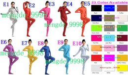 Wholesale Sexy Lycar - Sexy Unisex Body Suit Costumes New 23 Color Lycra Spandex Bodysuit Catsuit Costumes Unisex Zentai Outfit Halloween Cosplay Suit M015