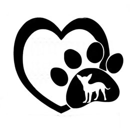 Wholesale Browning Heart Decal - Wholesale 20pcs lot Automobile and Motorcycle with Products Vinyl Decal Car Stickers Glass Stickers Scratches Sticker Heart-shaped And Dog