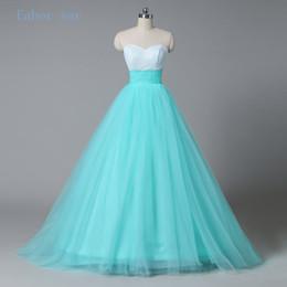 Wholesale Long Orange Sequin Ball Dress - Pageant prom dress 2017 mint green lace Long Quinceanera sequined bra tops mint sweetheart evening dress glittering dress