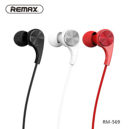 Wholesale Cnc Music - REMAX RM-569 Wired Music Earphone In Ear Hifi Studio CNC Headphone Noise Cancelling HD Mic with Magnetic Box Better Bluedio HBS