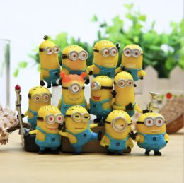Wholesale Despicable Action Figures - Despicable Me 2 Minions in Action Figures Minions Toys Doll New cheap Toy Set 12PCS Set Retail Lovely Plush Toys Girls Gifts.