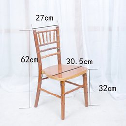 Wholesale Modern Wood Dining Chairs - Wood color solid wood chair modern dining room chair living room chair bamboo shape Christmas party decorations furniture