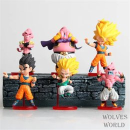 Muñecas dragon ball online-Figuras de acción 6Pcs / Set Dragon Ball Z Figuras de acción Gokou Gohan Goten Buu Ubu Budokai Pvc Juguetes para niños Aficiones Muñeca Modelo Juguete