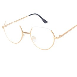 Wholesale Solid Hinges - Alloy Glasses Frame Semi-Rimless on Top Rim Eyeglasses for Men and Women Optical Eyeglasses Prescription Spectacles A121