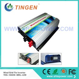 Wholesale Turbine 1kw - Grid tie inverter dc to ac pure sine wave 1000w 1kw dc input 22-60v for wind turbine generator home use