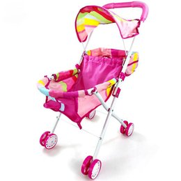 Wholesale Baby Walker Cart - Baby Toys Stroller for Girls Pretend Play Stroller Pushchair Toys Walker Cart Children Stroller for Dolls Umbrella Pram 2-4 Y