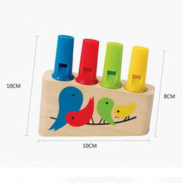 Wholesale Wooden Whistles Wholesale - Wholesale- LeadingStar Baby Toys Kids Wooden Rainbow Panpipe Wooden Flute Birds Whistle Toy Musical Early Eduactional Toy Gift