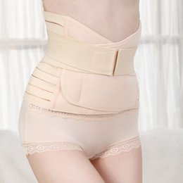 Wholesale Wholesale Stomach Girdle Waist - Wholesale- Womens Tummy Control Weight Loss Sweat Belt Body Shaper Stomach Wraps Waist Trainer Postpartum Girdles Shapewear