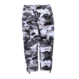 Wholesale Camouflaged Pants Men - Camouflage Men's Cargo Pants Full Length 2017 Spring Multy Camo Hip Hop Pants Men Women Streetwear Toursers Men 8 Colors