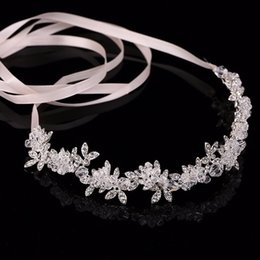 Wholesale Transparent Tin - Transparent Crystal tiaras headband bridal wedding flower headdress noble hair ornament hair Jewelry Rhinestone Hair Band for women