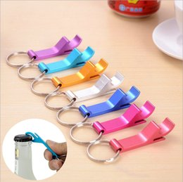 Wholesale Wholesale Canned - Multifunctional stainless steel beer bottle opener Keychain portable canned creative beer cans and a bottle opener