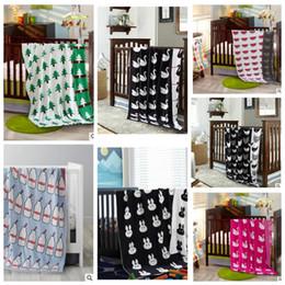 Wholesale Babies Bedding Sheets - Baby Blanket Soft Kitting Cotton Swaddle Ins Newborn Infant Wrap Bedding Sheet Swaddling Toddler Swaddling Nursery sofa bed blanket KKA1907