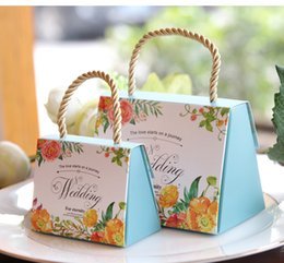 Wholesale Blue Favour Box - High Class Wedding Favors Gift Boxes 2017 New Arrival Hard Card Paper Made Favor Holders Favour for Candy