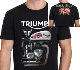 Wholesale Motorcycle Triumph - Tops Male T Shirt Crew Neck Men New Style Short Sleeve Triumph Motorcycle Tee Shirt