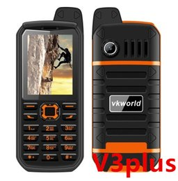 Wholesale Ip67 Waterproof Mobile Phone - VKworld V3 plus Outdoor IP67 Waterproof Mobile Phones Power Bank Long Standby Outdoor Sport Dual SIM cell phone