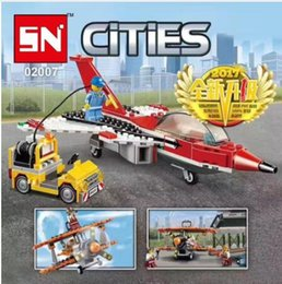 Wholesale Building Blocks Airport - the city Series The airport flight performance Children Educational Building Blocks Bricks baby Toys