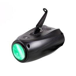 Led 10 w RGB 24 desen ışıkları ses aktive sahne projektör lambası DJ Disico Balo Salonu parti ışıkları küçük zeplin manuel ışık AC100-240V nereden