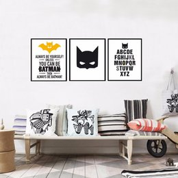 Wholesale Christmas Art Paint - 3 Piece Super Hero, Batman Poster Canvas Painting Wall Art, halloween and christmas Canvas Art Wall Pictures for Living Room, No Frames