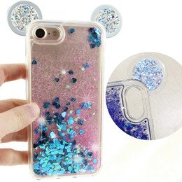 Wholesale Flow Clear - For iphone 7plus 6s plus Samsung s8 J7 J5 Flowing Quicksand Cases Glitter Sparkly Bling Stars Movable Dynamic Flowing Liquid phone case